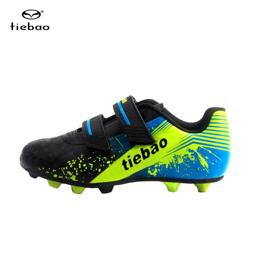 TIEBAO Children's Professional Outdoor Football Shoes Teenagers Soccer Shoes Cleats Football Boots Boys Kids Football Sneakers