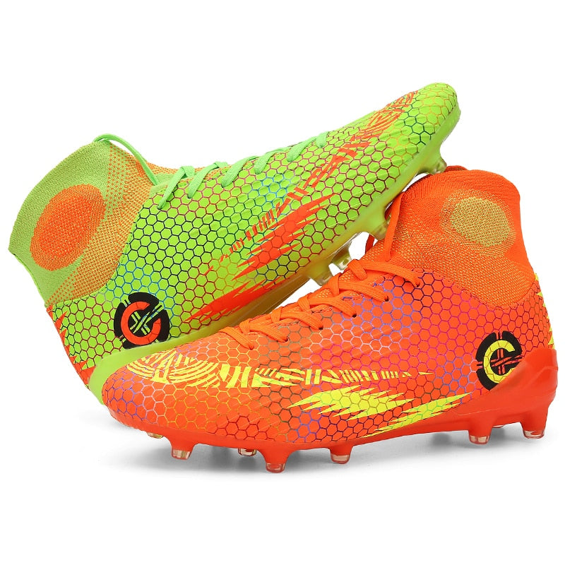 Men Football Boots High Socks Sports Cleats Soccer Shoes FG Mens Sneakers Indoor Trainers Athletic Shoes Futsal Chuteira Futebol