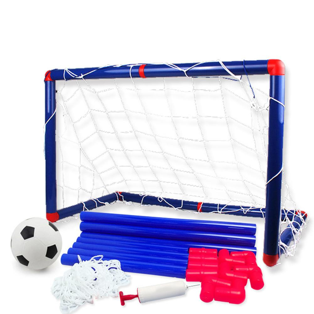 Kids Sports Soccer Toy Set with Ball Pump Goal Net Football Toy Set for DIY Indoor Outdoor Practice