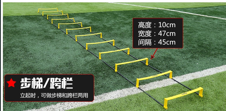 6/8/10/12 Rung Soccer Agility Ladder for Speed Dual-use multifunction agility hurdle energy ladder Football Training Equipment