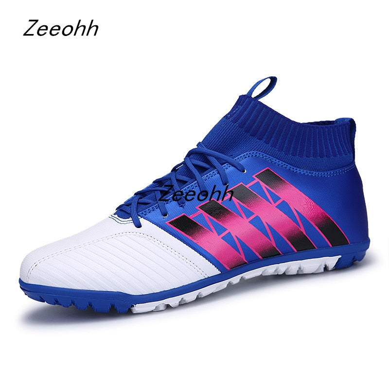 Man Football Boots Outdoor Turf Athletic Soccer Shoes 2019 New Big Size 35-44 High Top Football Cleats Training Sneakers Men