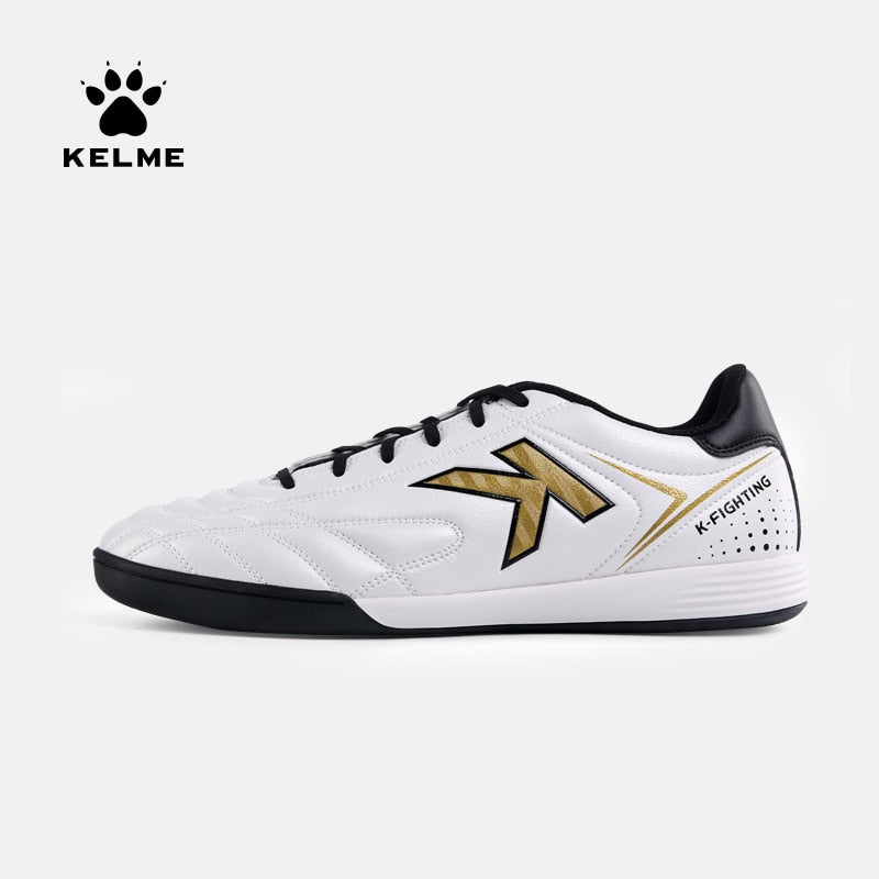KELME Football Boots Men Soccer Shoes Original Indoor Football White Sneakers Shoes Cleats Football Futsal Boot Male 6891146