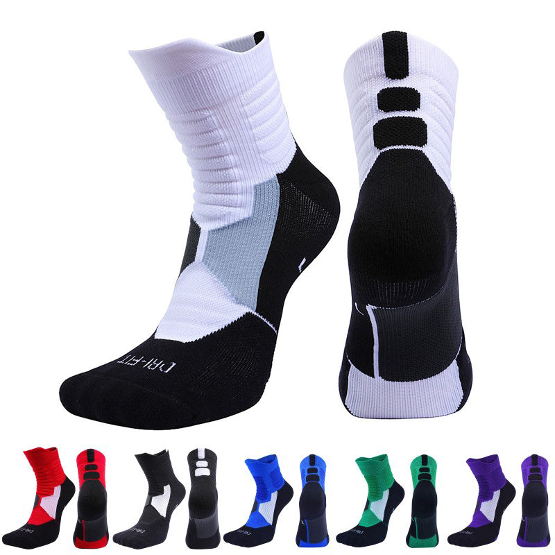 Men Women Fitness Running Bike Cycling Hiking White Sport Socks Outdoor Basketball Football Soccer Compression Socks Calcetines