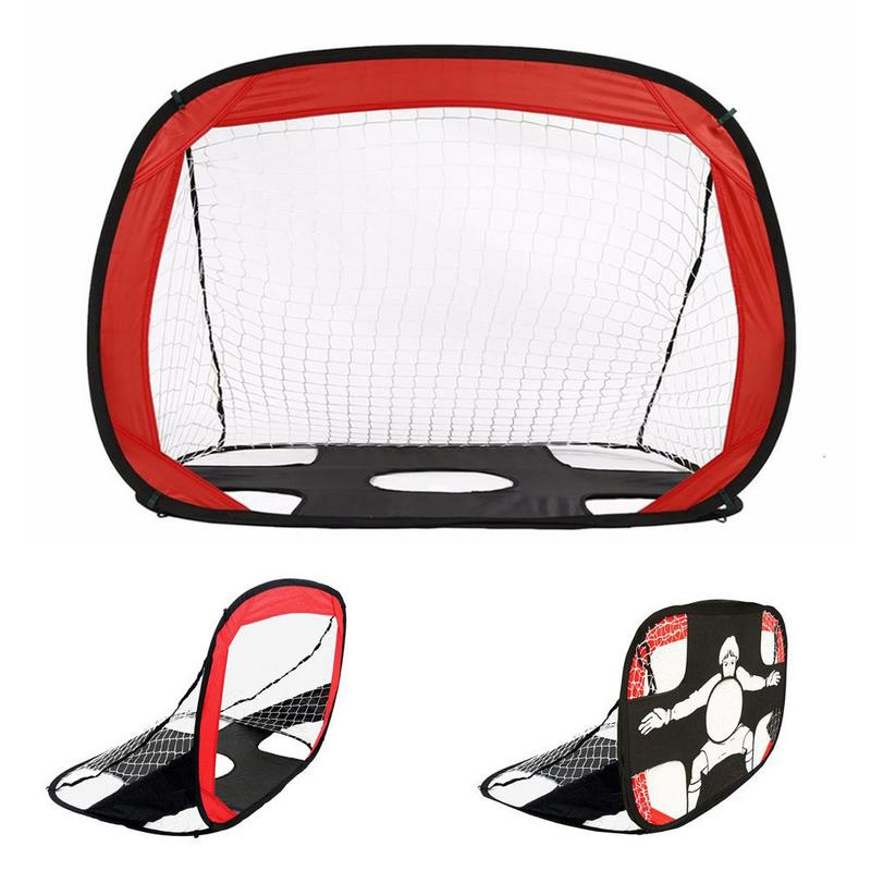 Portable Target Football Training Goal Foldable Net Goal Extra Sturdy Soccer Ball Practice Gate For Children Soccer Training