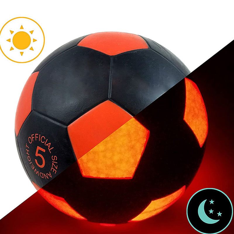 LED Soccer Trainer Ball Light Up Football Training Glows Hi-Bright Football Soccer In The Dark With LED For Man Teen Boy Fun