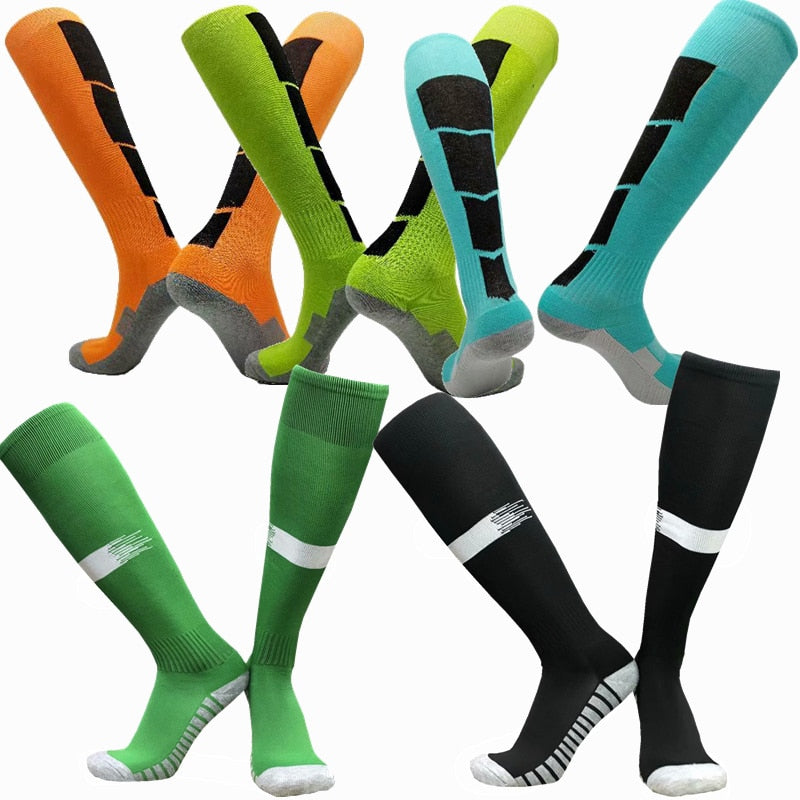 Men Women Sports Professional Football basketball Socks Knee-high Compression towel Breathable stocking Soccer Socks