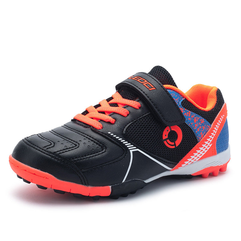 Size 28-35 Boy Soccer Shoes Black Cleats Kids Soccer Shoes Outdoor Man Sports Sneakers Lightweight Male Football Boots Training
