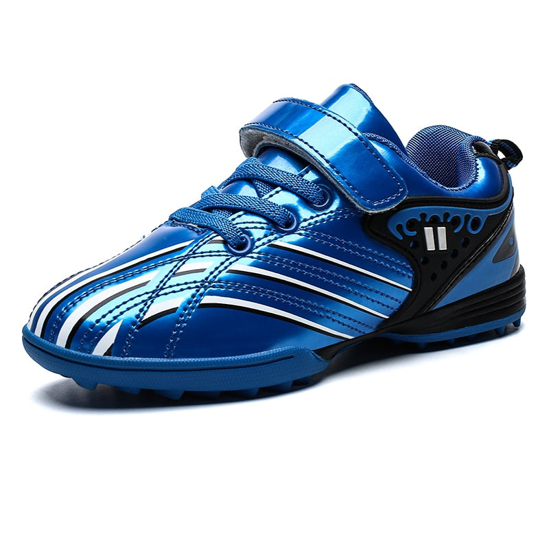 New Cool Kids Sports Waterproof Football Shoes tf Anti-Slippery Boys Girl Trainers  Children Sports Training Shoes Gold Sneakers