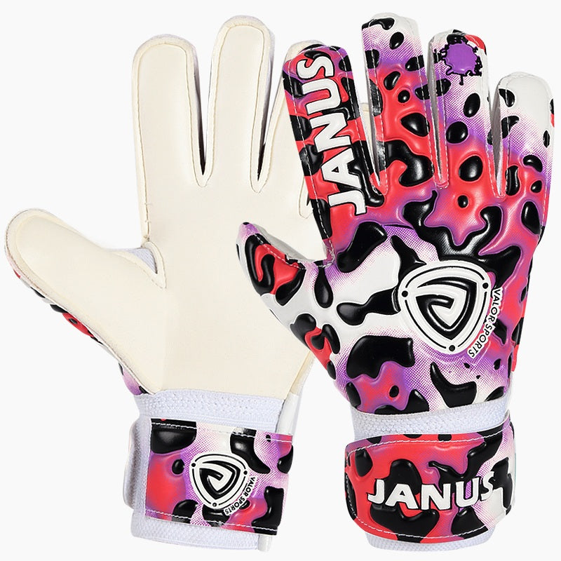 Professional Children's Football Goalkeeper Gloves With Plugin Plastic Finger Protection Thickened Latex Soccer Goalie Gloves
