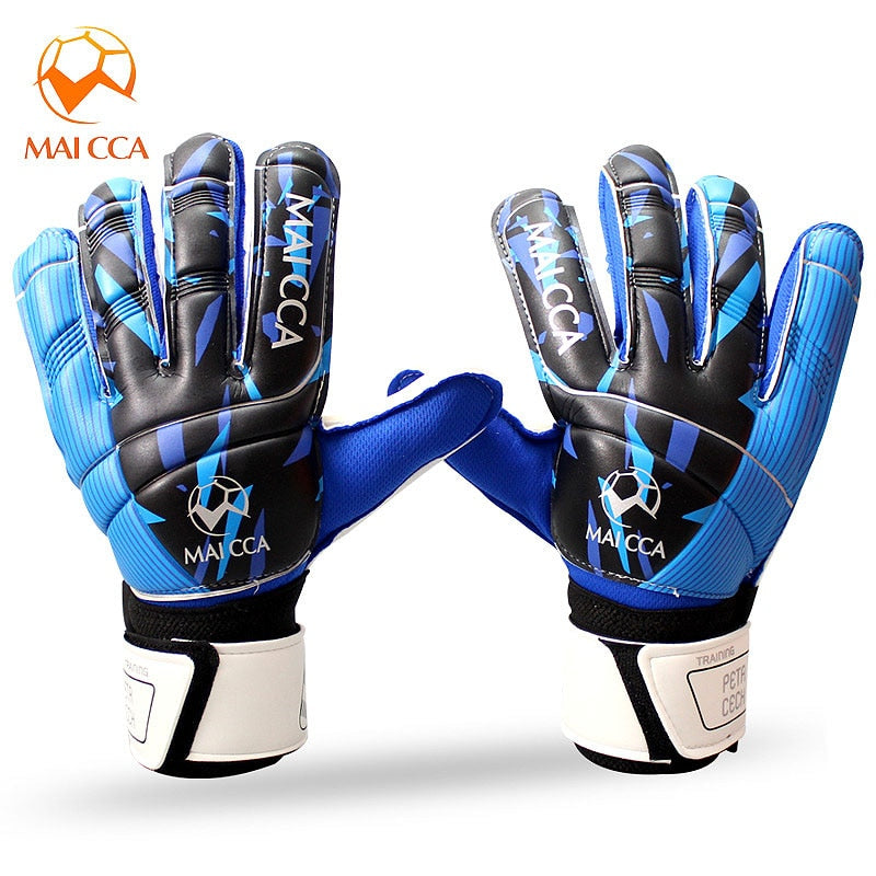 MAICCA Adult Professional Socce Goalkeeper Gloves Football Finger Protection Soccer Football Latex  Goalie Gloves with Super