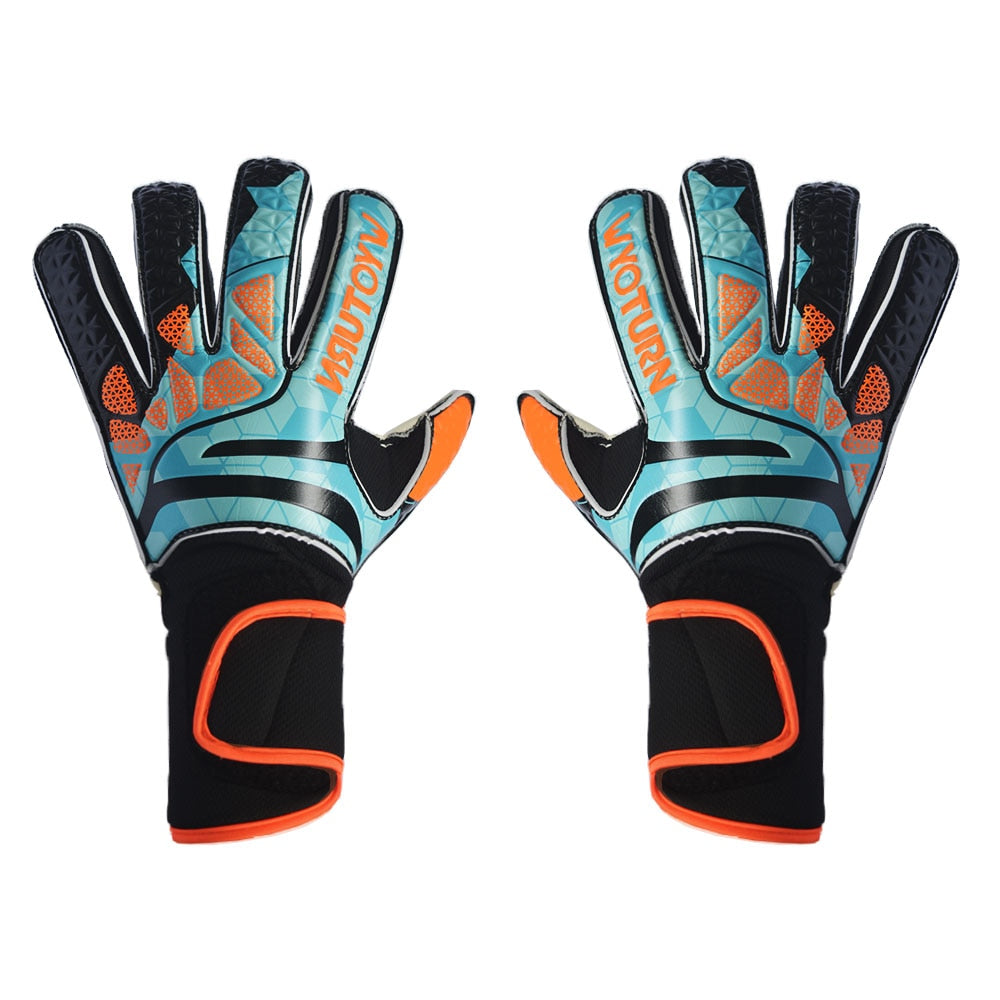 WYOTURN Adults Size Soccer Goalkeeper Gloves Professional Thick Latex Soccer Goalie Gloves With Finger Protection