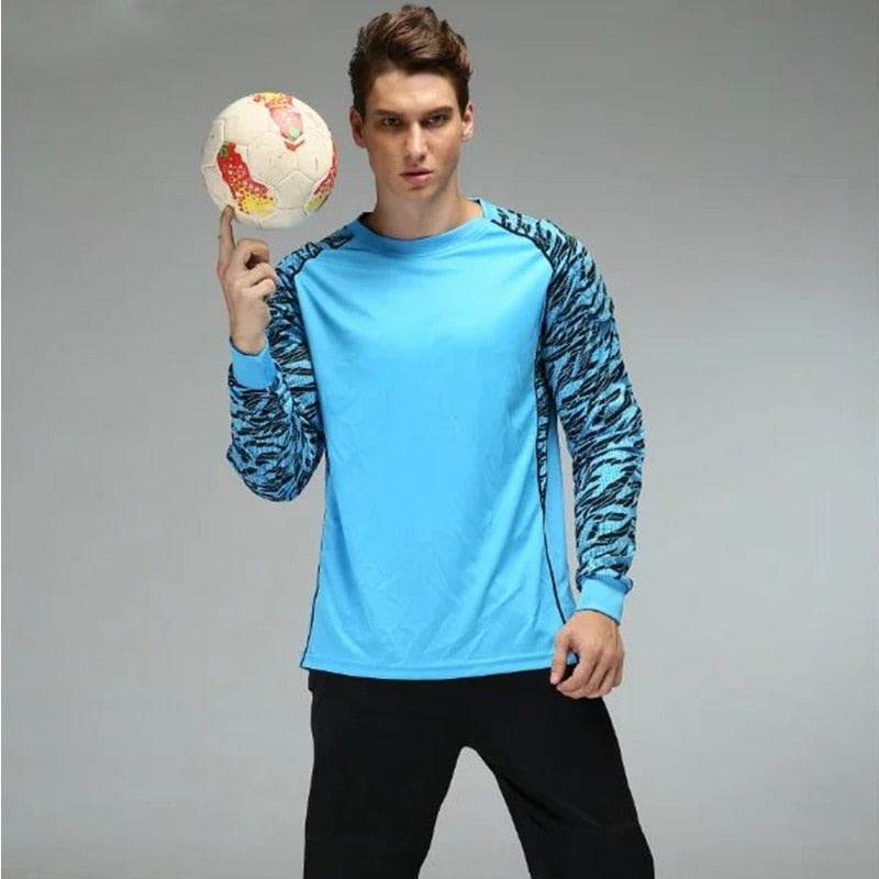 Shinestone Adult Goalkeeper Jersey Set Long Sleeve Uniform Breathable Goalkeeper Sponge Protection Soccer Jersey Training  Suit