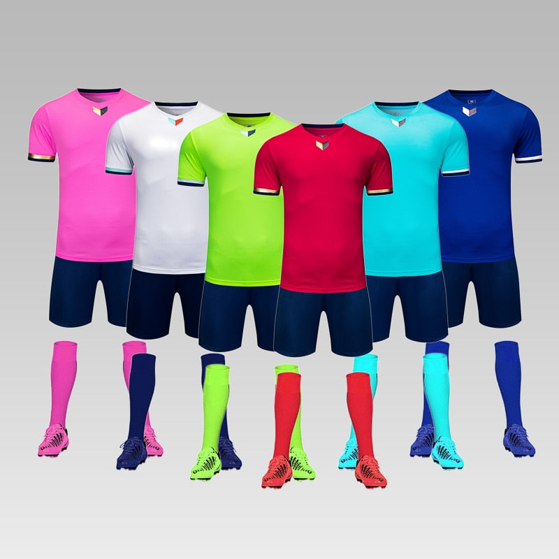 2020 Adult Football Jerseys custom Boys Soccer Clothes Sets For Men Soccer Jersey Uniform Youth Soccer Tracksuit