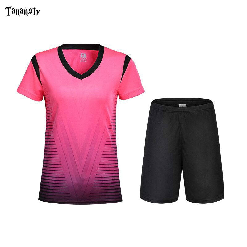Customized Women soccer set training suit DIY Football shirt ladies Soccer Uniforms Blank Team club Suits  Football Jerseys Sets