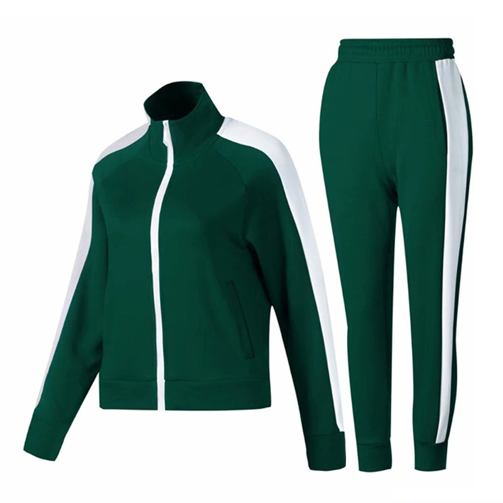 2019 winter female Long Sleeve Soccer Sets Football Jackets Pants girls Tracksuit women Football Training green Suit uniform