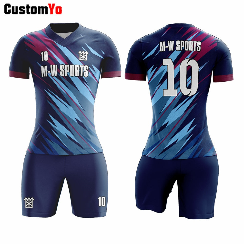 Maker Your Own Training Shirts Digital Printing Football Jerseys Popular Soccer Uniforms