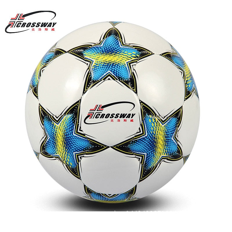 CROSSWAY Brand Football Ball Soccer Ball Size 5 Official Anti-slip PU Slip-Resistant Standard Match Training Champions Football