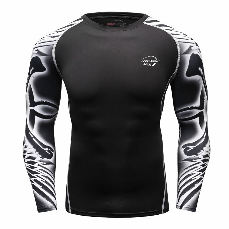 Long sleeve Sport Running Quick Dry Basketball Soccer Training T Shirt Men Basketball Jersey Jogging gym suit