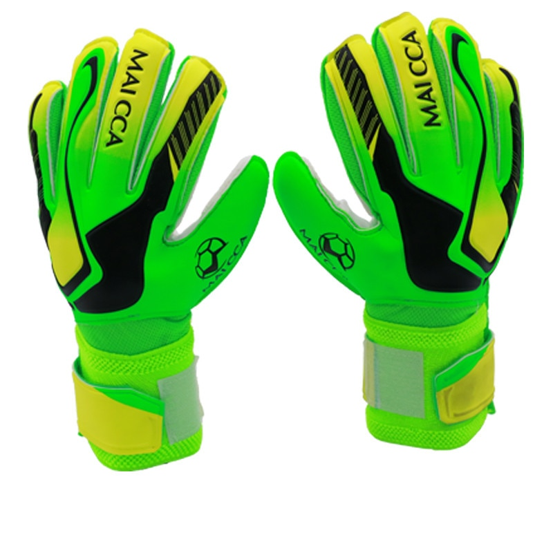 Professional Men Kids thick Latex Gloves Boys Football Goalkeeper Goalie Soccer Gloves Finger Guard Goalie Soccer keepers Gloves