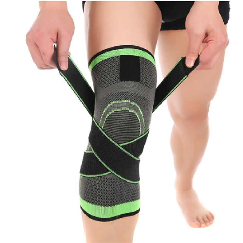 3D Weaving Knee Brace Breathable Sleeve Support for Running Jogging Sports 1pcs Safety & Survival