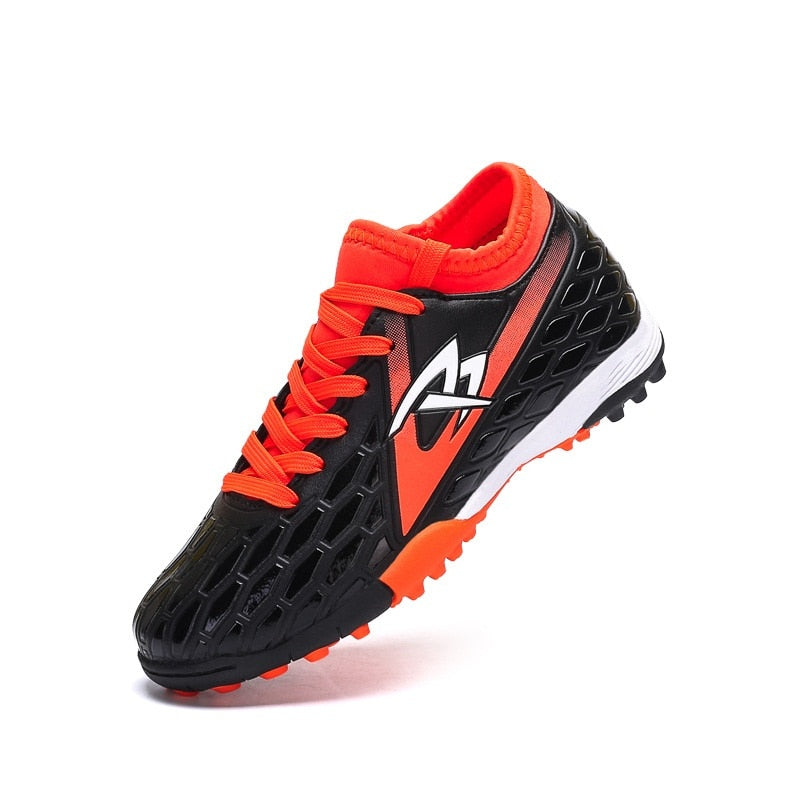 Kids Breathable Soccer Shoes Children Soccer Cleats Turf Football Sneakers Trainers Teenager Shock Absorption Shoes AA11230