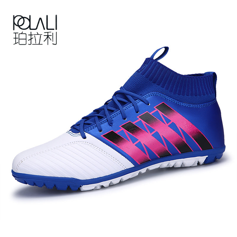 POLALI Men's Soccer Shoes TF Futsal Hard Court Turf Football Boots Indoor Sock Cleats Trainer Cheap Botas Chuteira Futsal Shoes