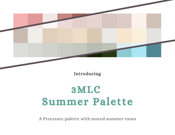 Muted Summer Palette for Procreate - Digital Download