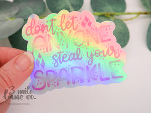 HOLO Steal Your Sparkle Waterproof Sticker