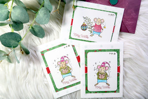 Handmade Christmas Greeting Cards - Bundle 4