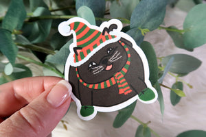 Elf Kitty Sticker