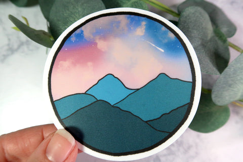 Pacific Twilight Landscape Sticker