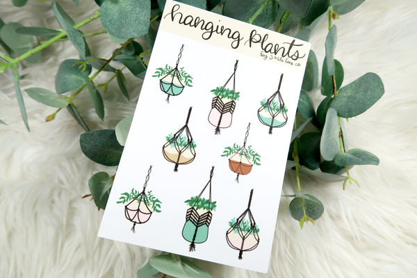 Hanging Macrame Plants Sticker Sheet