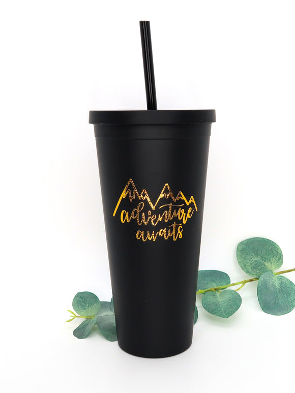 22 oz Matte Black Adventure Tumbler