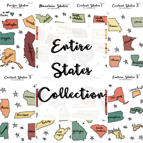 ENTIRE States Collection Sticker Sheets