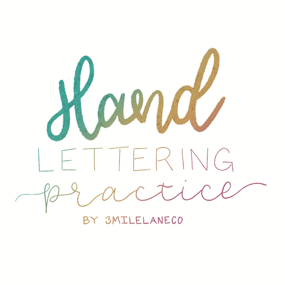 Hand Lettering Practice Workbook Procreate Digital Download