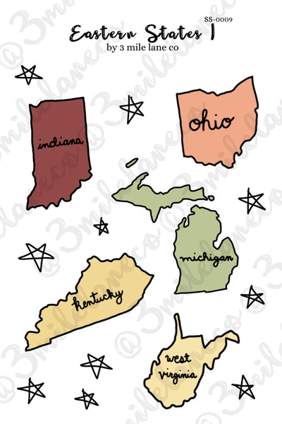 Eastern States 1 Sticker Sheet
