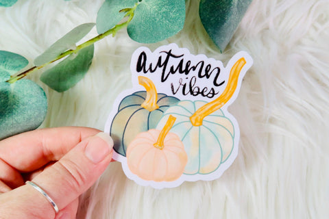 Autumn Vibes Pumpkins Sticker