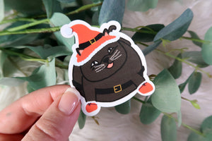 Santa Kitty Sticker