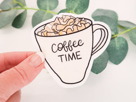 Coffee Time Mug Sticker