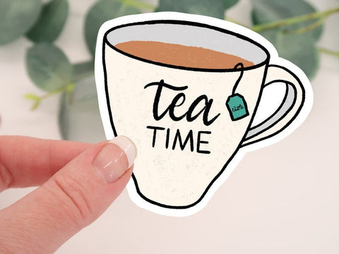 Tea Time Mug Sticker