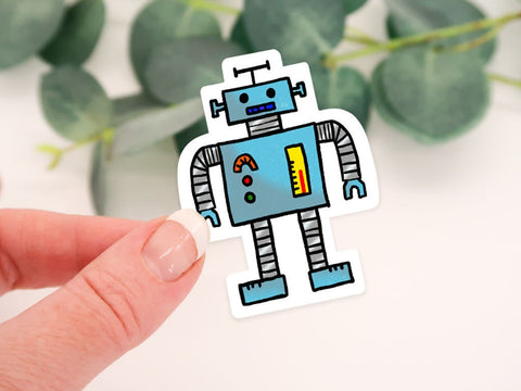Colorful Robot Sticker