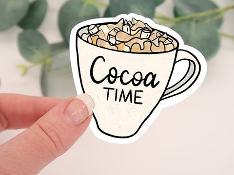 Cocoa Time Mug Sticker
