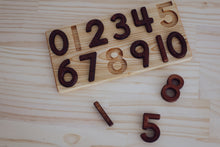 Load image into Gallery viewer, Numbers 0-10 Wooden Puzzle