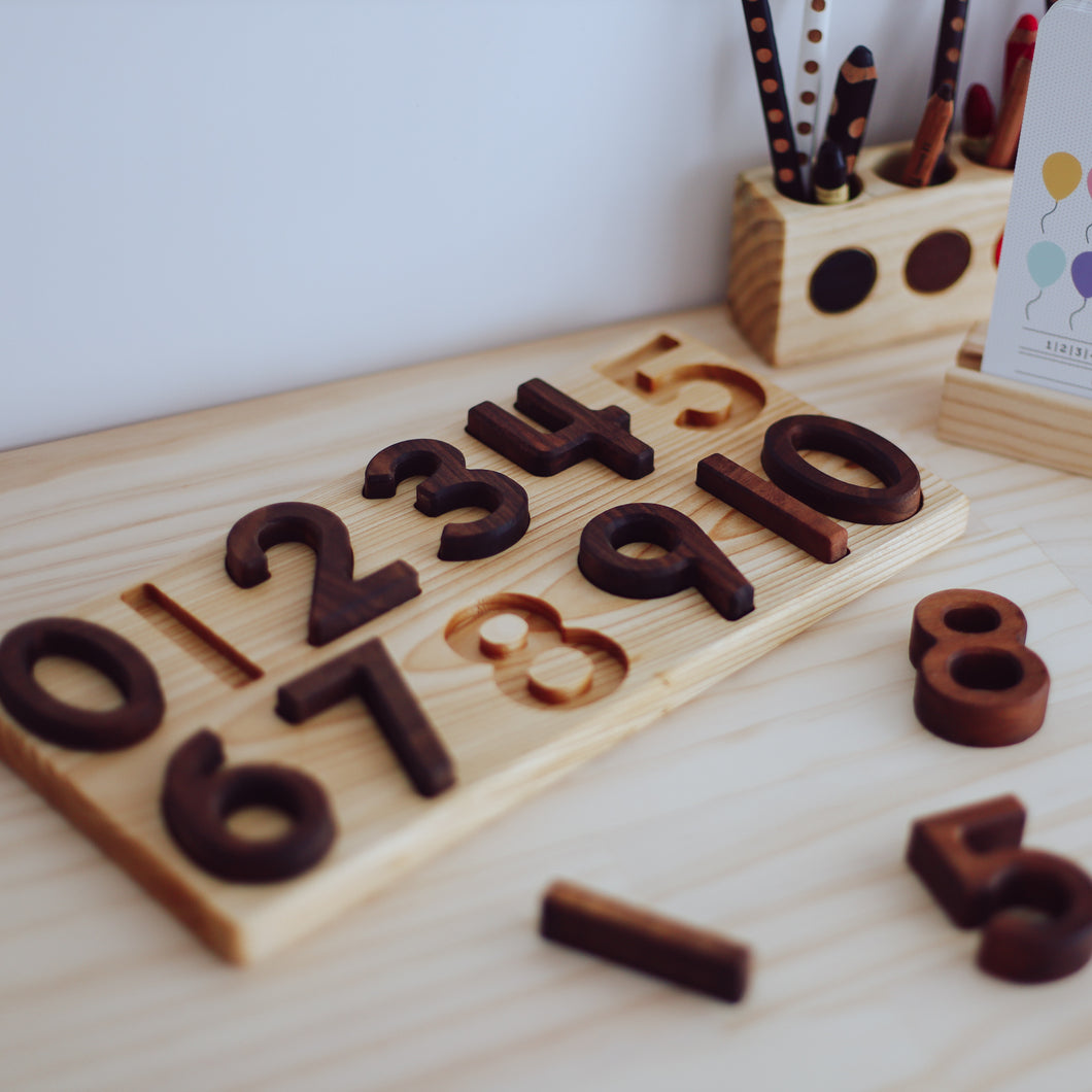 Numbers 0-10 Wooden Puzzle