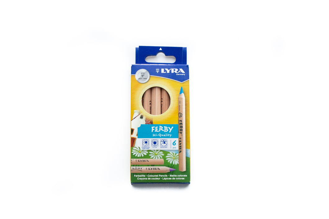 LYRA Ferby (short) Unlacquered Pencils (6 PACK)