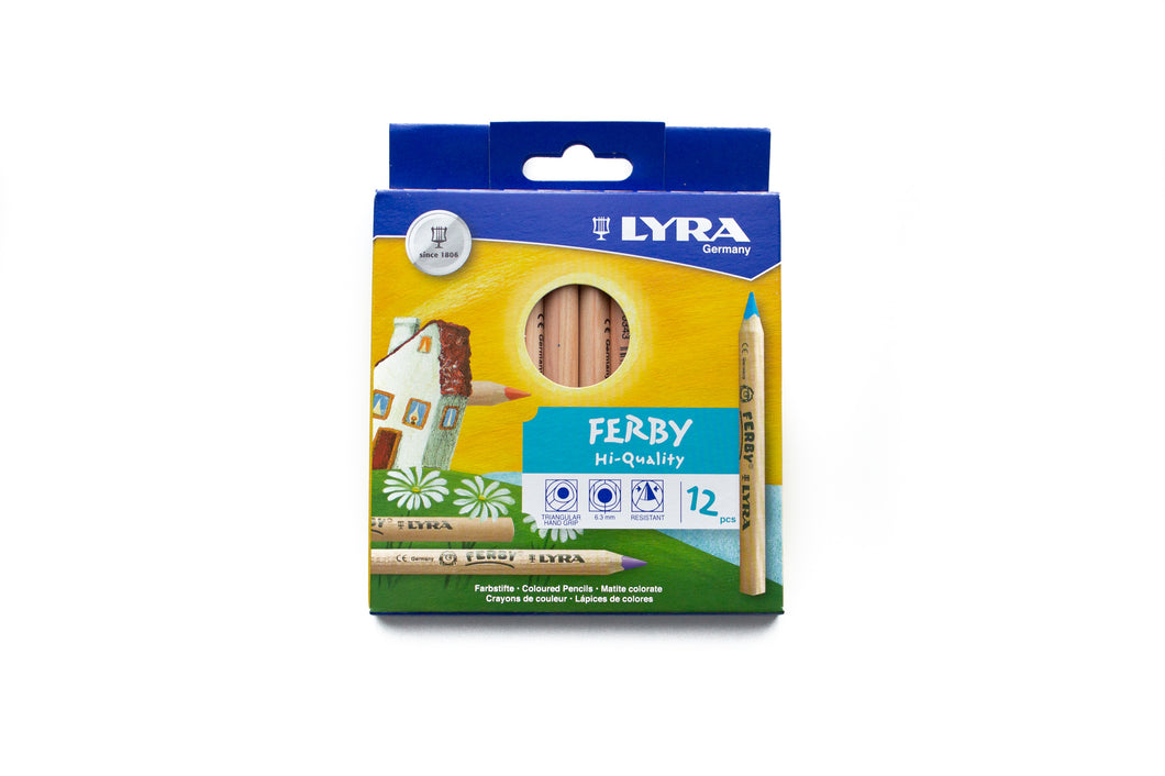 LYRA Ferby (short) Unlacquered Pencils (12 PACK)