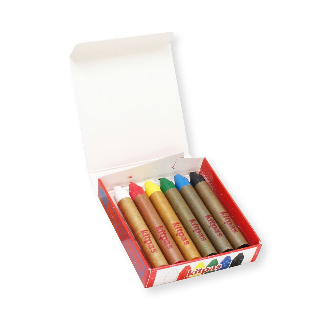 Kitpas Medium Stick Crayons (6 colours)