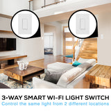 Smart Wi-Fi 3-Way Light Switch Kit (2 Pack)