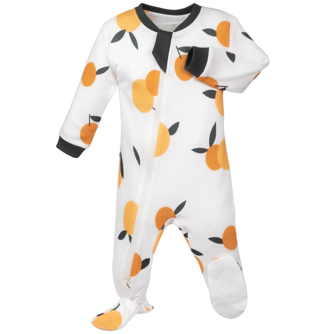 Be Mine Clementine- Footed Babysuit