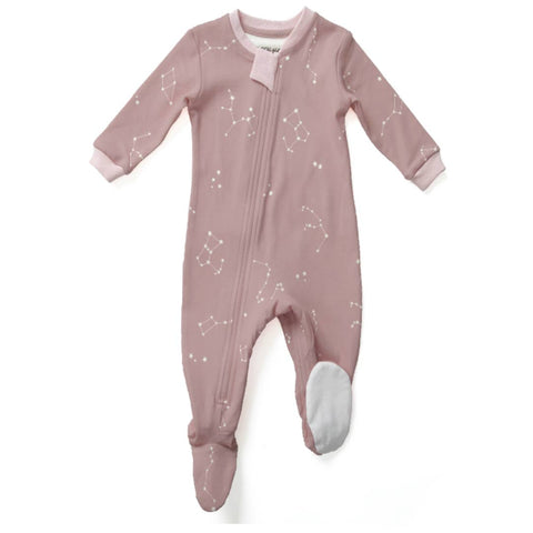 Galaxy Love - Pink - Footed Babysuit